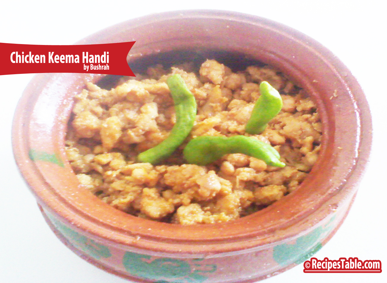 Recipe: Chicken Keema Handi