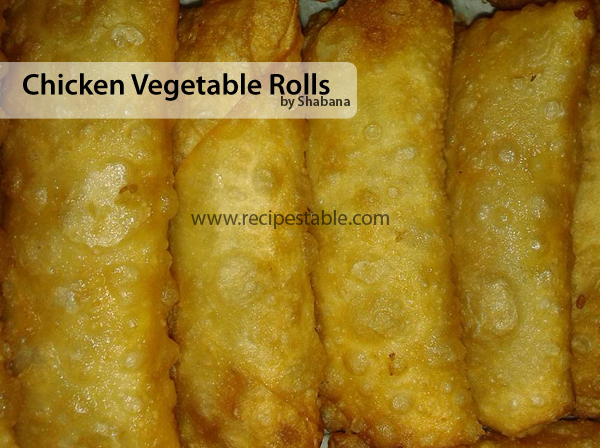 Chicken Vegetable  Rolls Recipe