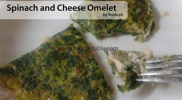 Spinach and Cheese Omelet Recipe