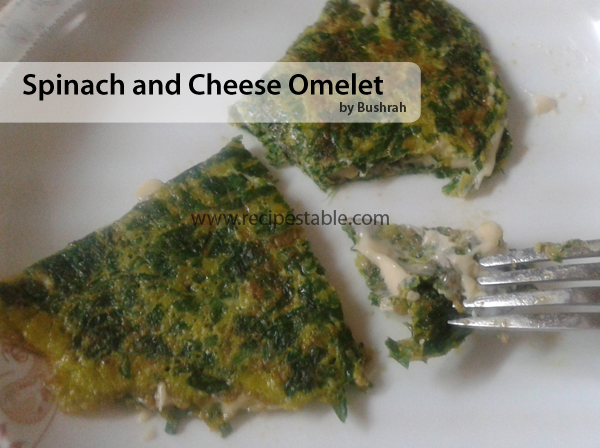 Clean Eating - Spinach and Cheese Omelet Recipe