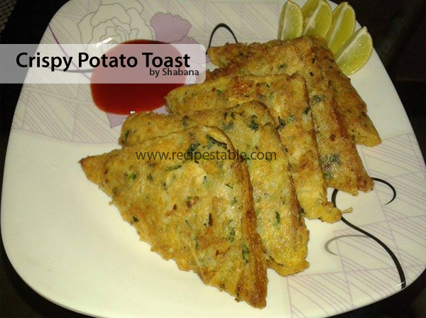 Crispy Potato Toast Recipe
