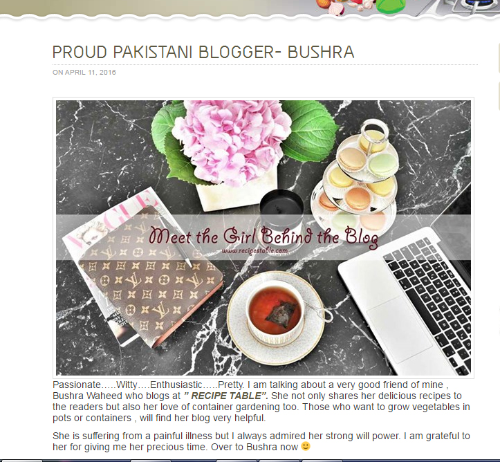 MY Interview as a Proud Pakistani Blogger