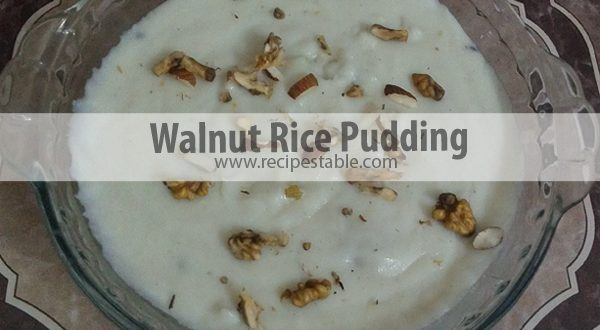 Walnut Rice Pudding Recipe