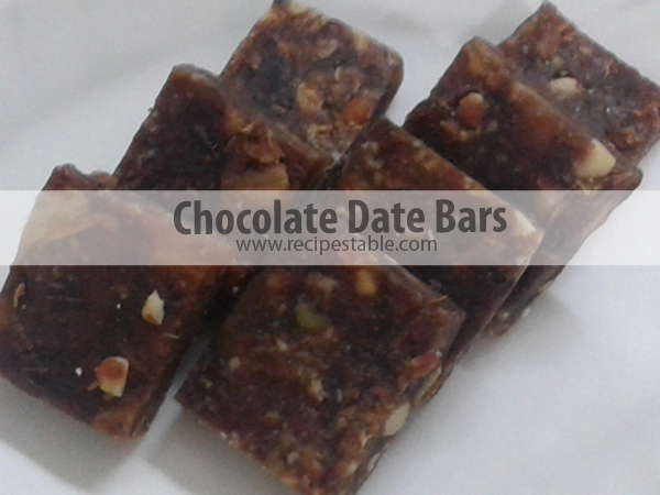 Chocolate Date Bars Recipe