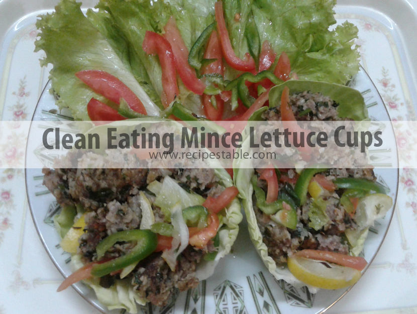 Clean Eating Mince Lettuce Cups