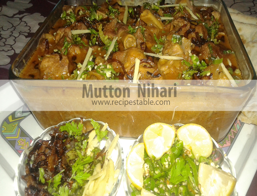 Mutton Nihari with ginger and fried onion