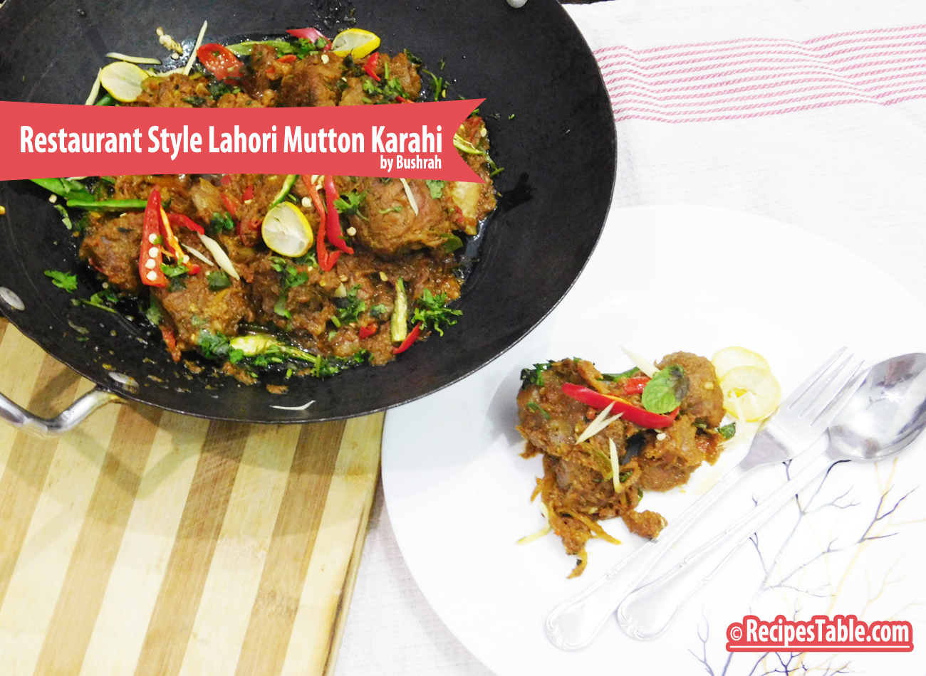 Restaurant Style Lahori Mutton Karahi Recipe