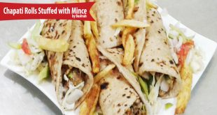 Chapati Rolls Stuffed with Mince
