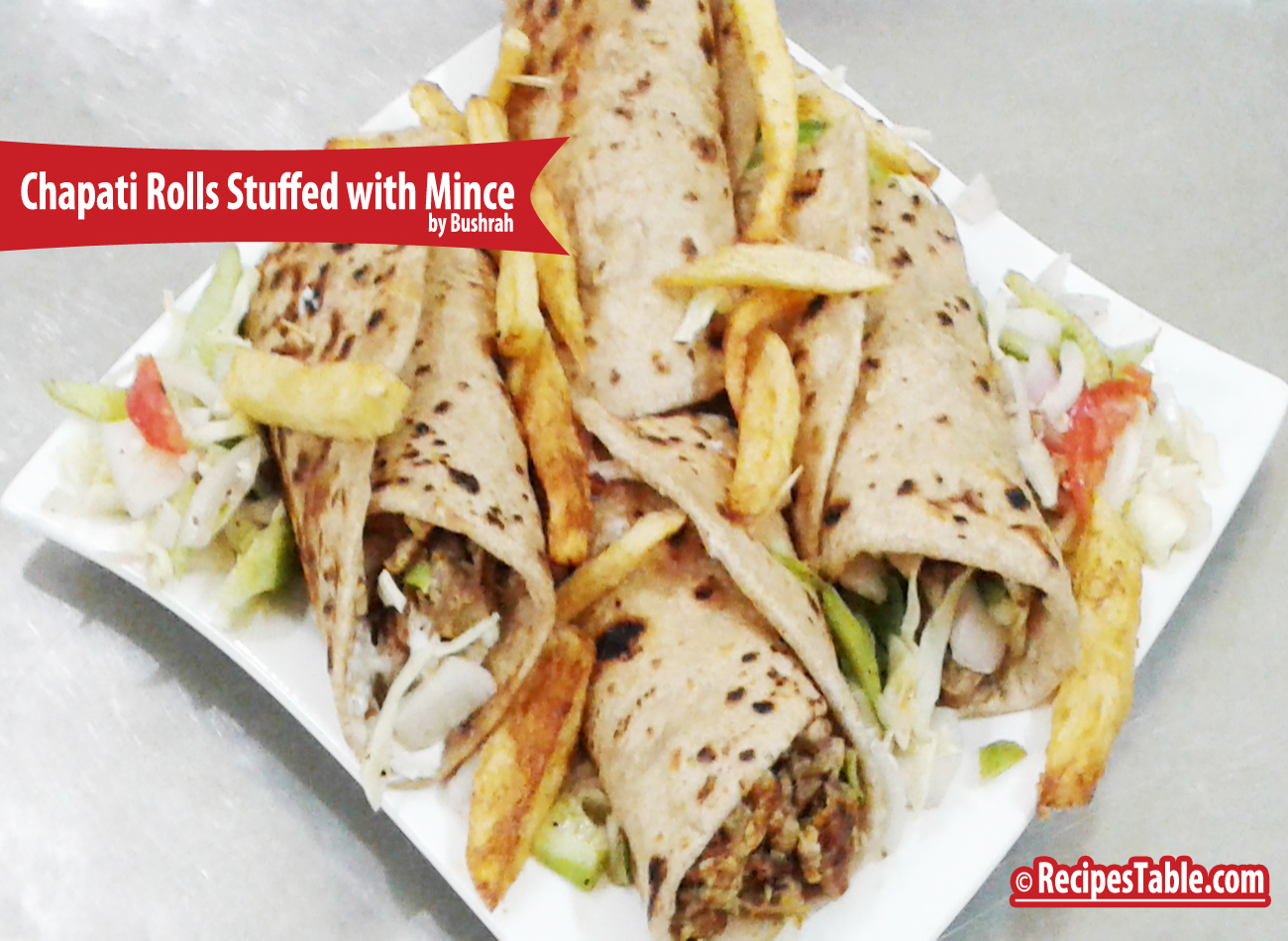 Recipe: Chapati Rolls Stuffed with Mince
