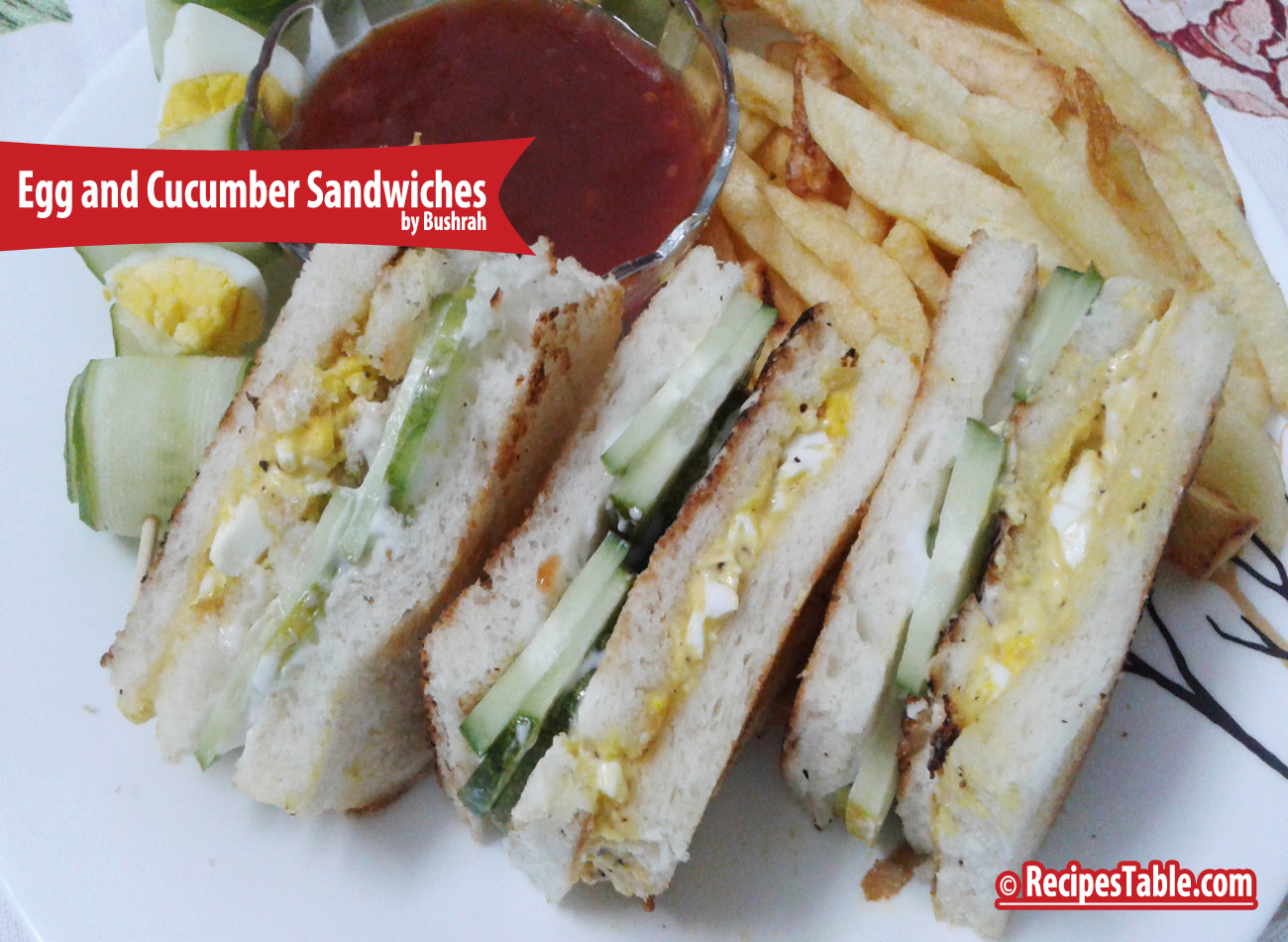 Egg and Cucumber Sandwiches recipe