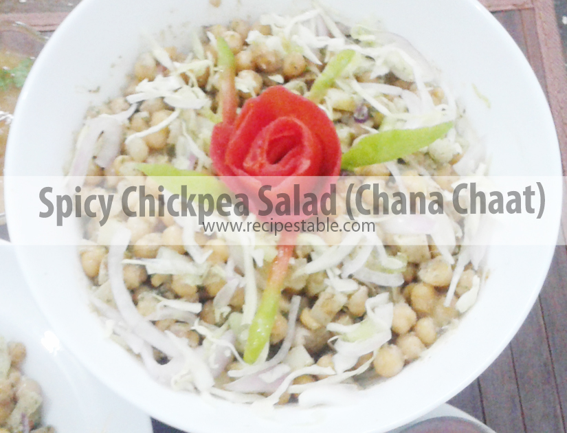 Spicy Chickpea Salad (Chana Chaat)