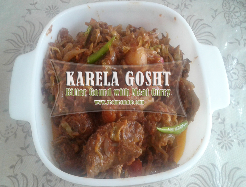 How to make Karela Gosht