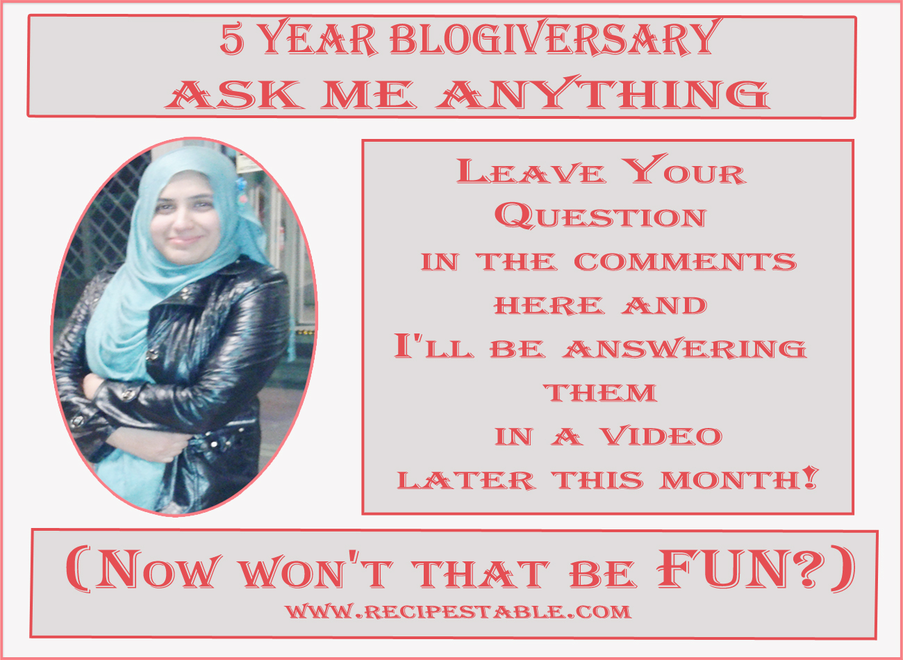 Blogiversary ~ Ask me Anything