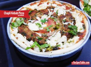 Chapli Kebab Pizza (Desi Pizza)