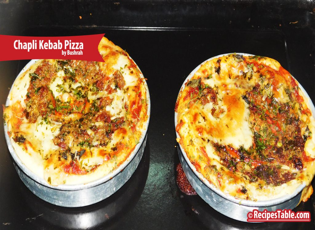 Chapli Kebab Pizza recipe