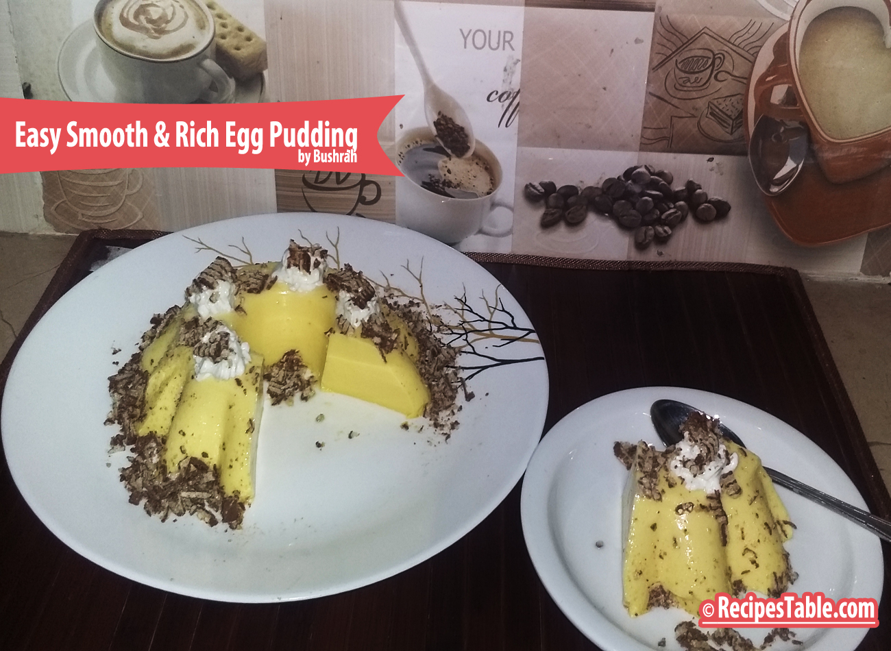 Easy Smooth & Rich Egg Pudding