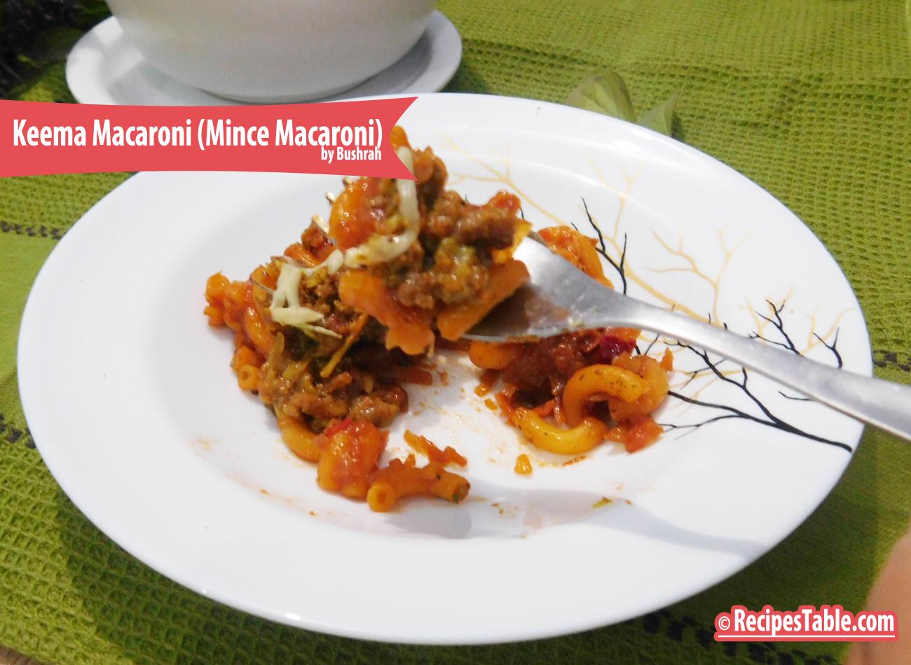 Keema Macaroni ( Mince Macaroni)