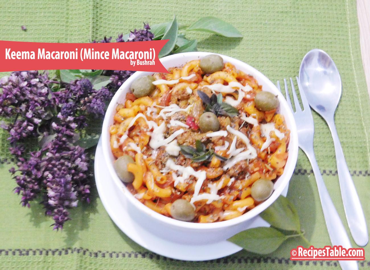 Photo: Keema Macaroni ( Mince Macaroni)
