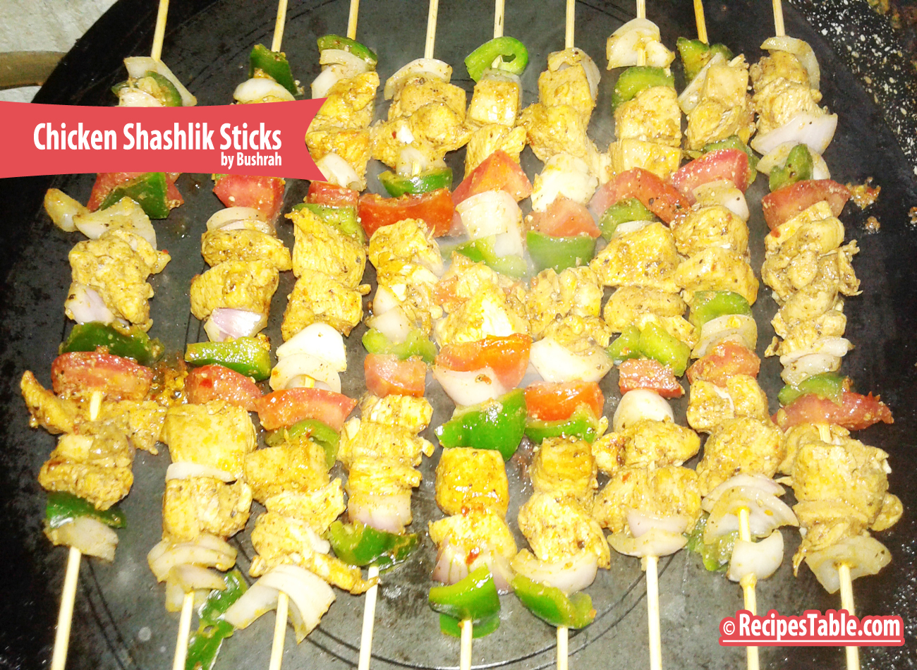 Chicken Shashlik Sticks recipe