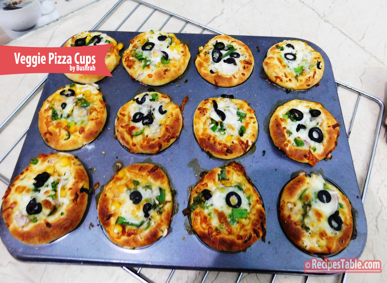 Veggie Pizza Cups recipe