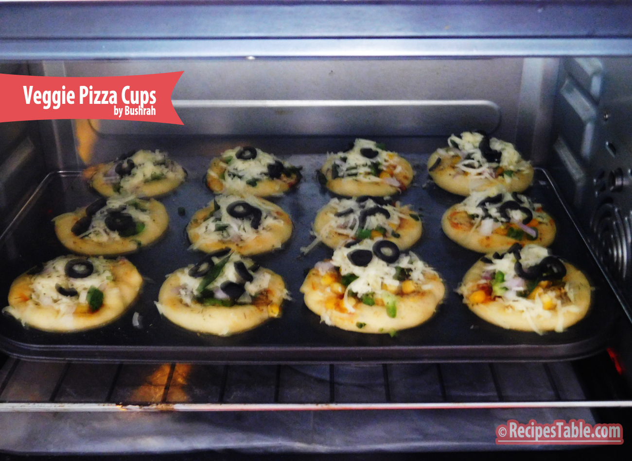 Veggie Pizza Cups recipe