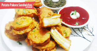 Potato Pakora Sandwiches recipe