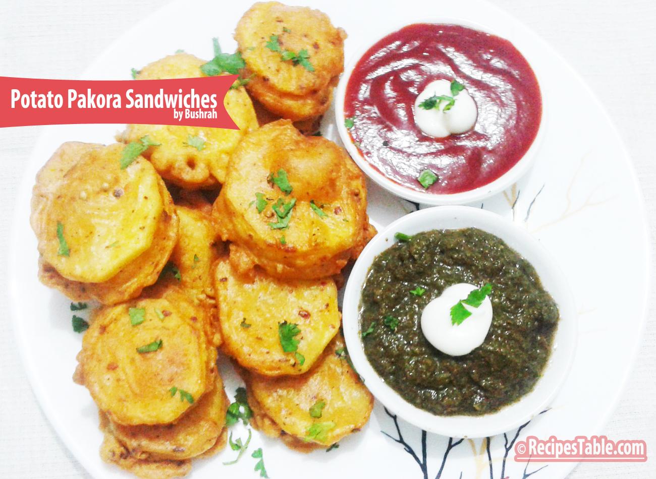 Potato Pakora Sandwiches recipe