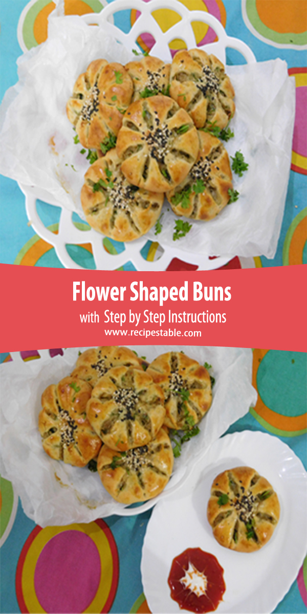 Flower shaped buns recipe with step by step pictures recipes table please do not use our photos without prior written permission if you wish to republish this recipe please rewrite the recipe in your own unique forumfinder Choice Image