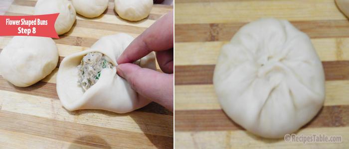 Flower Shaped Buns Recipe Step 8