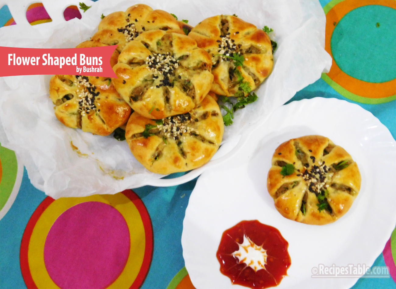 Flower Shaped Buns Recipe