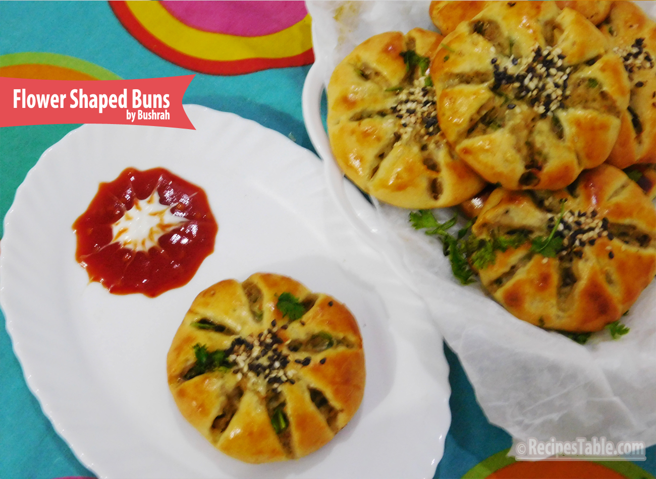 Flower Shaped Buns recipe