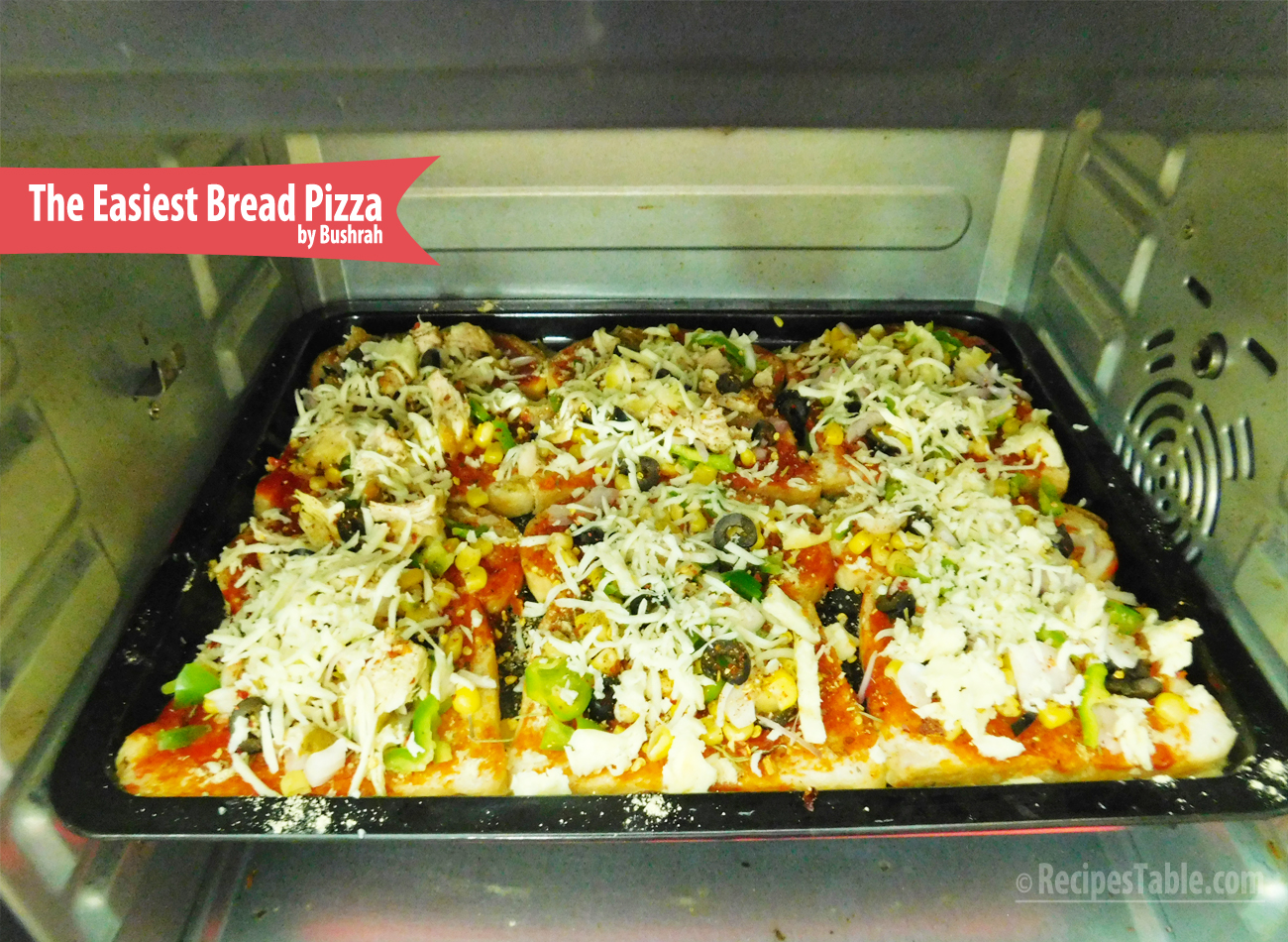 The Easiest Bread Pizza