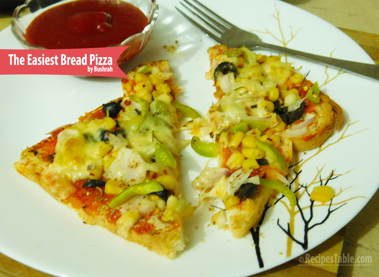 The Easiest Bread Pizza recipe