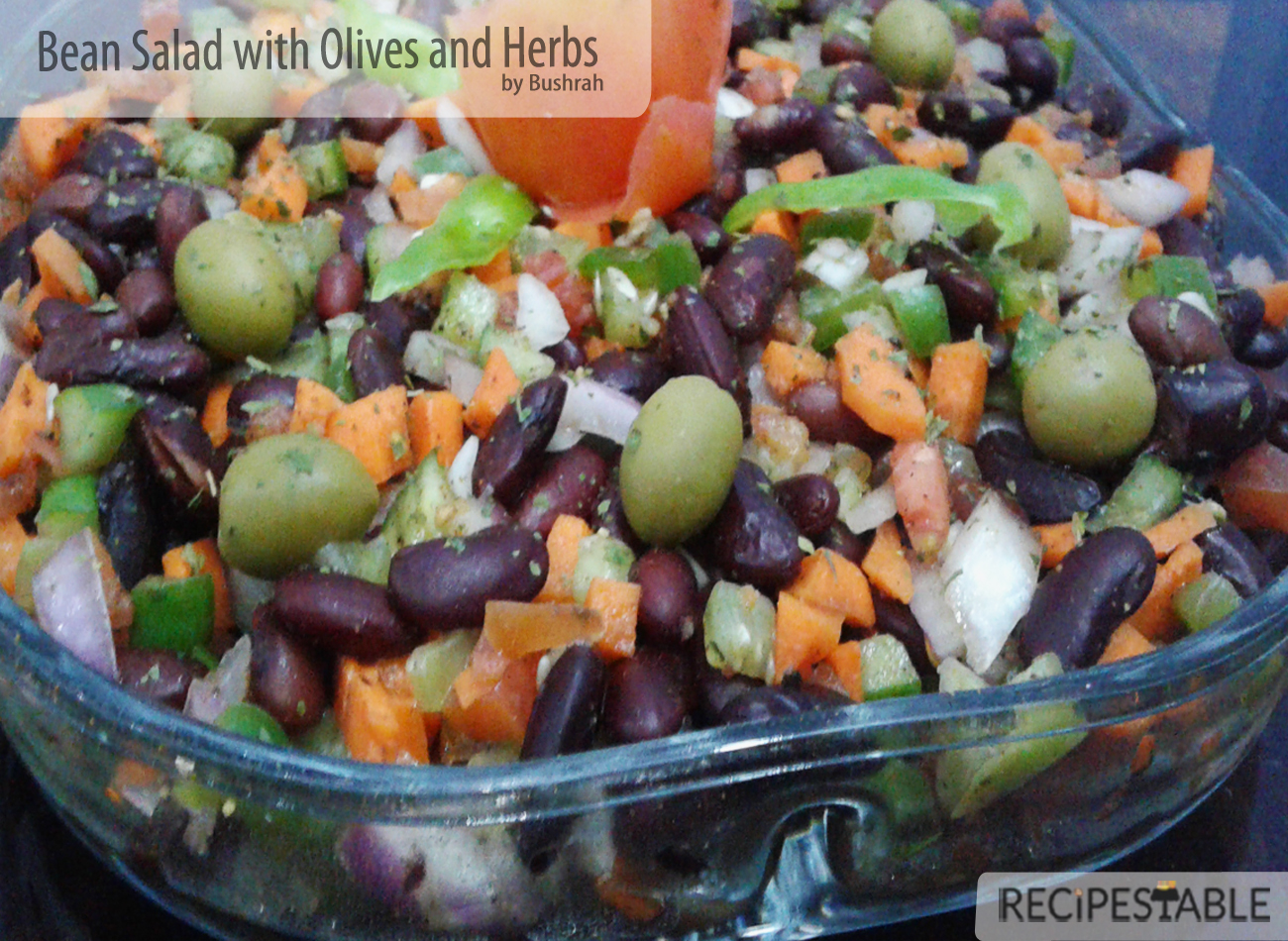 Bean Salad with Olives and Herbs