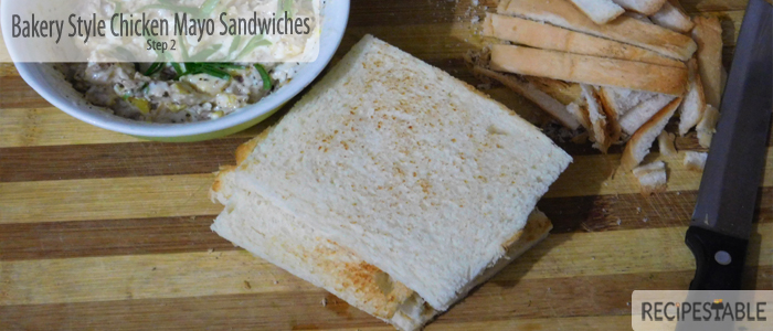 Bakery Style Chicken Mayo Sandwiches Recipe: Step 2