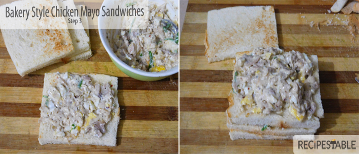 Bakery Style Chicken Mayo Sandwiches Recipe: Step 3