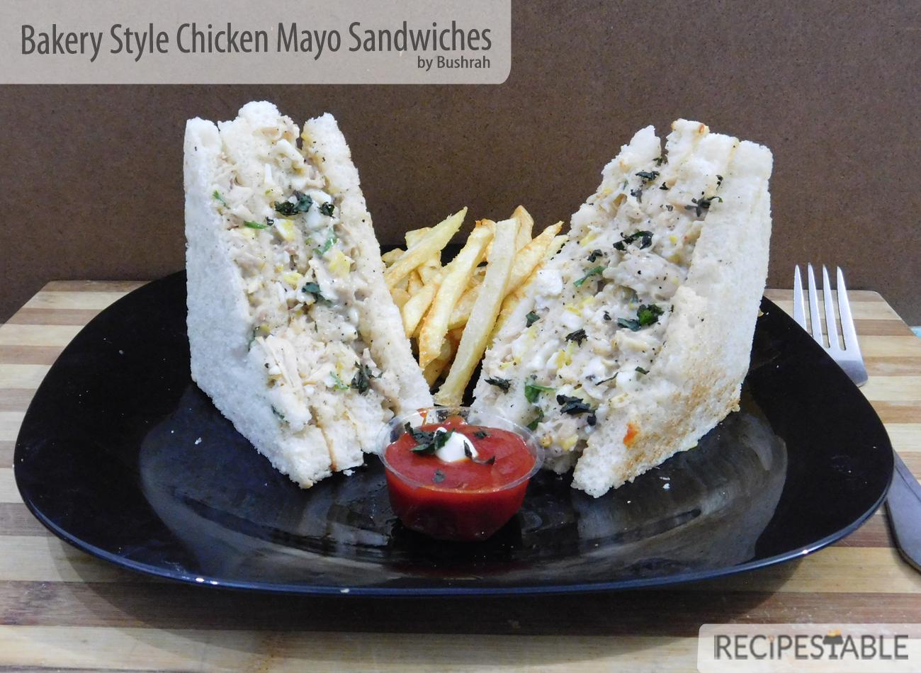 Bakery Style Chicken Mayo Sandwiches Recipe