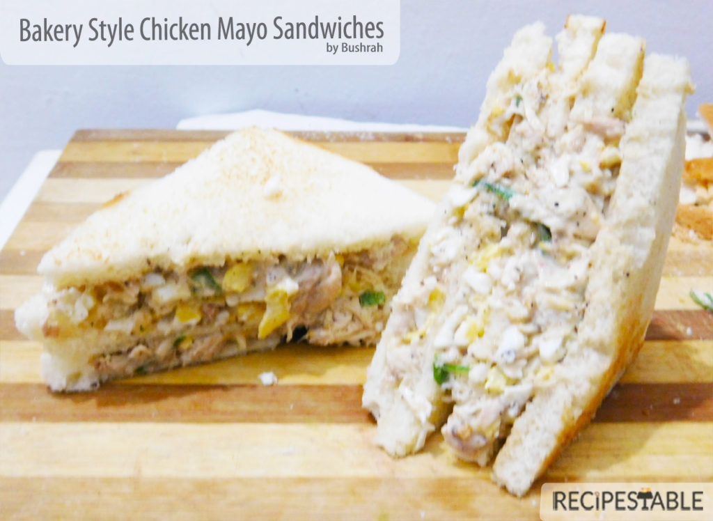 Bakery Style Chicken Mayo Sandwiches