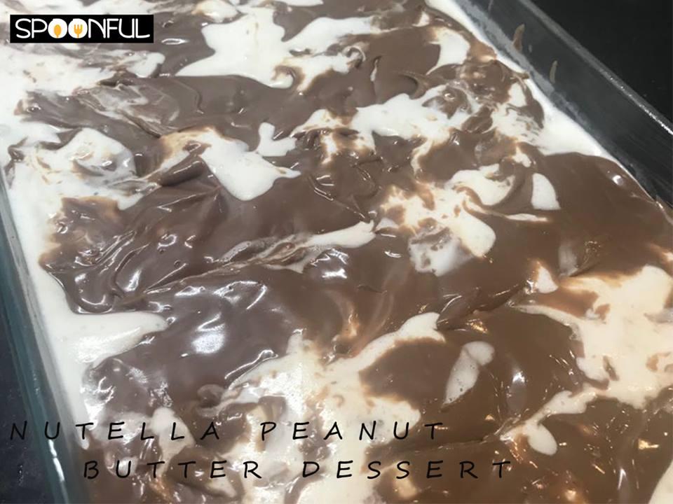 Nutella Peanut Butter Dessert.