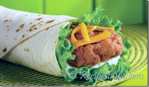 Garlic Mayo Chicken Wraps Recipe