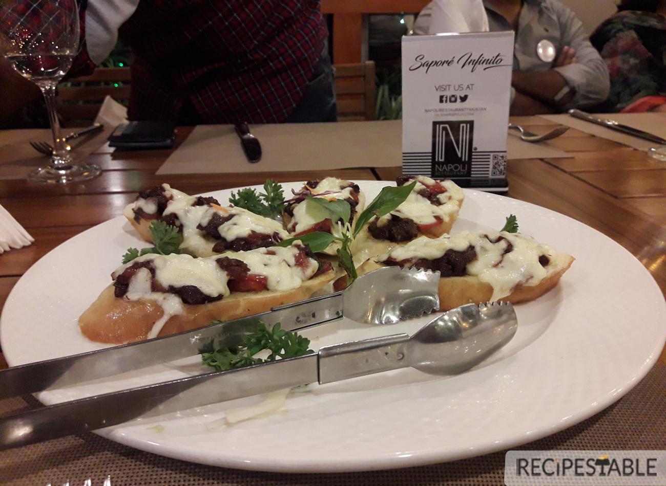 Two Tomato Bruschetta @ Napoli Restaurant