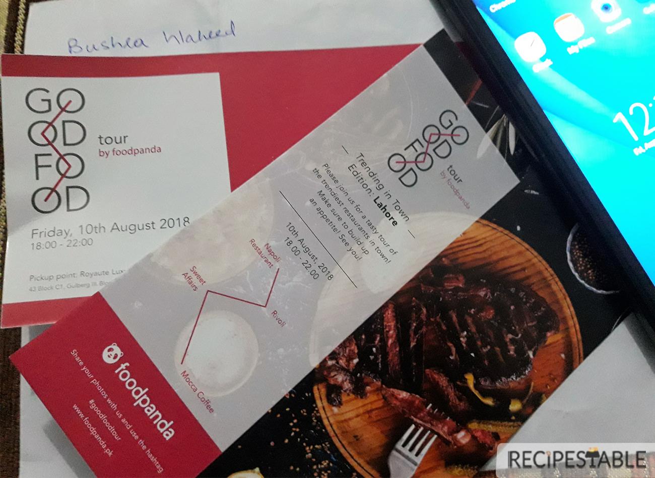 Foodpanda : Good Food Tour Invitation