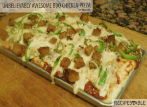 UNBELIEVABLY AWESOME BBQ CHICKEN PIZZA