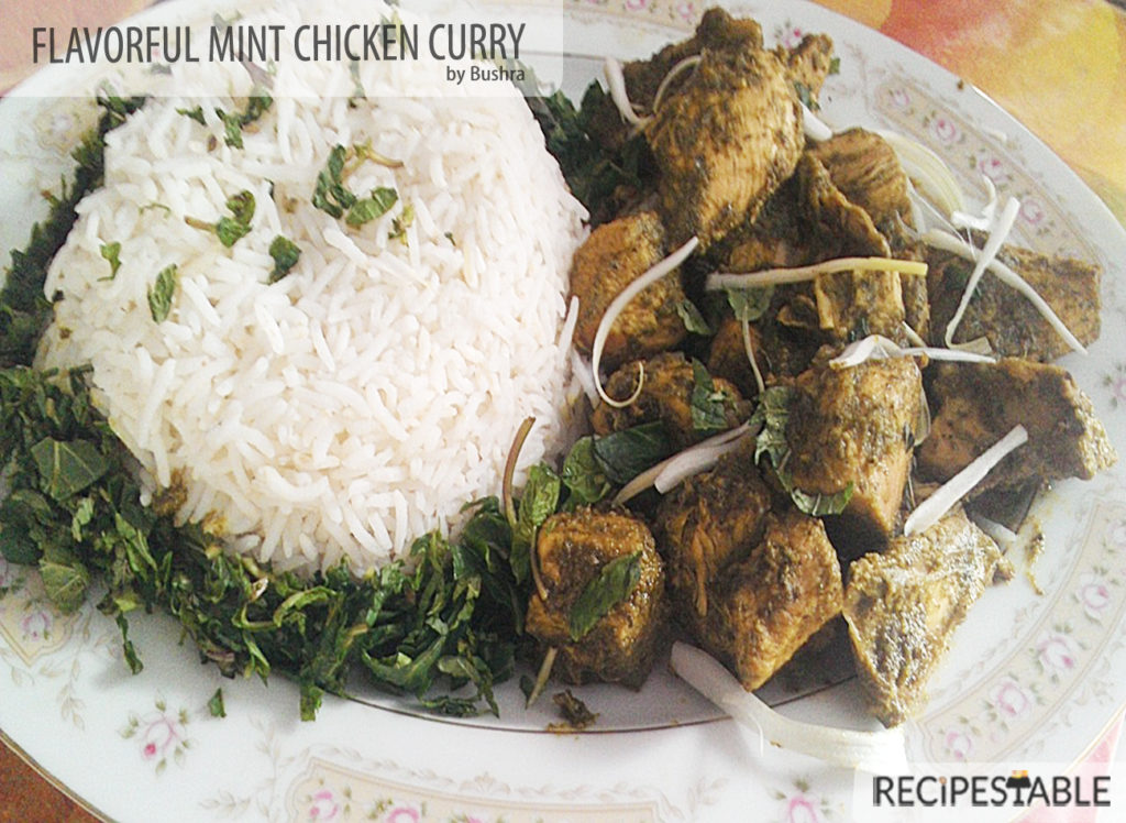 The Flavorful Mint Chicken curry Recipe