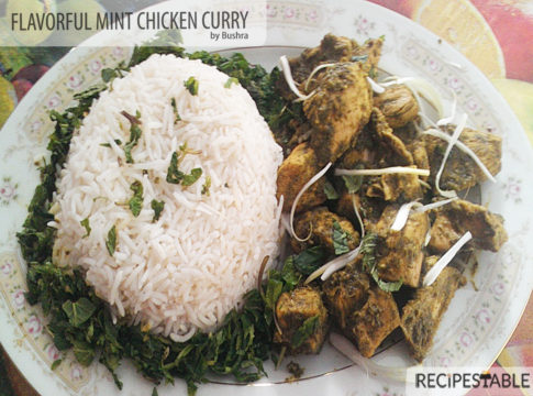 Flavorful Mint Chicken curry recipe