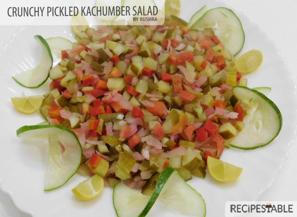 Crunchy Pickled Kachumber Salad Recipe