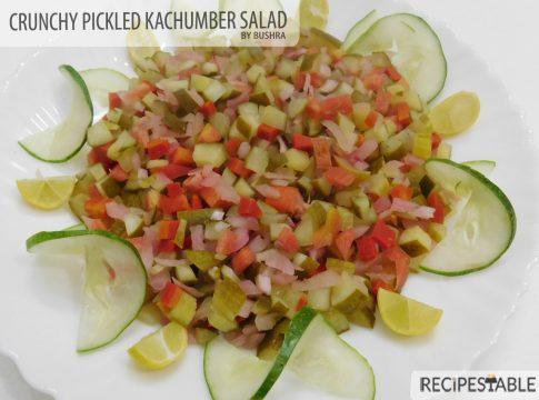 Crunchy Pickled Kachumber Salad Recipe