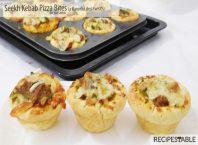 A Flavorful Desi Twist - Seekh Kebab Pizza Bites Recipe