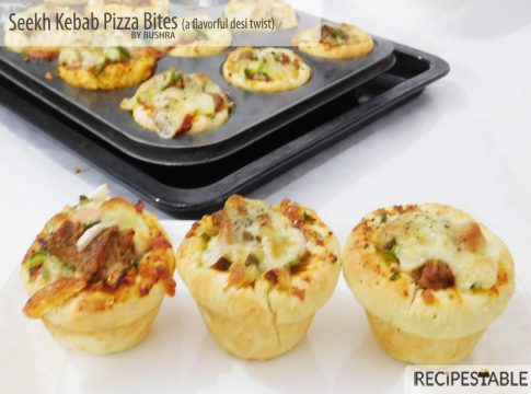 A Flavorful Desi Twist - Seekh Kebab Pizza Bites Recipe