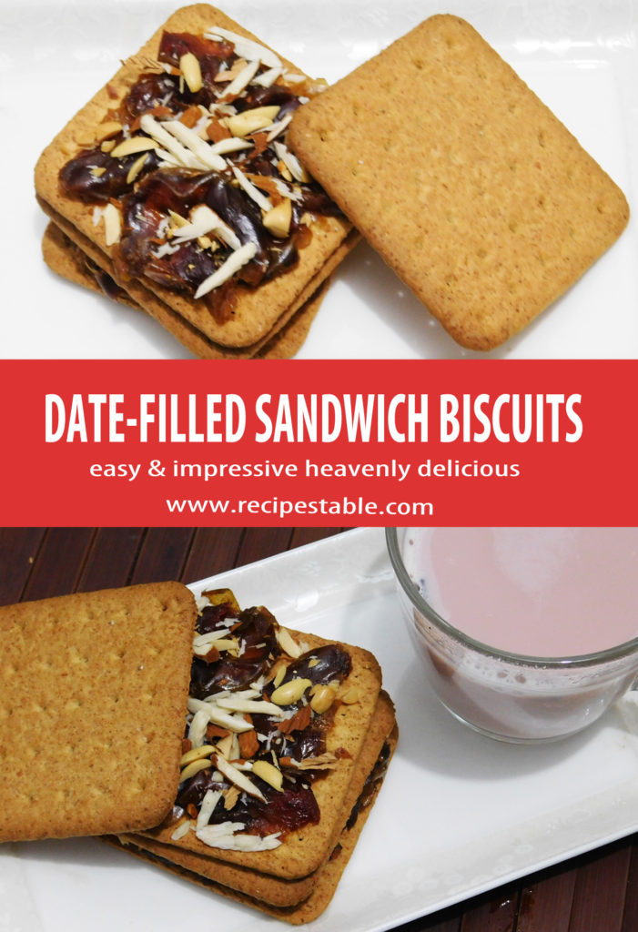 Enjoy the sweet, delicious taste of dates in these double-layered sandwich biscuits. This Date-Filled Sandwich Biscuits Recipe is very easy to follow, and the sandwich are a genuine treat that is hard to resist
